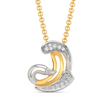 Tale of Swan Diamond Pendants