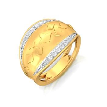Luminous Lily Diamond Rings