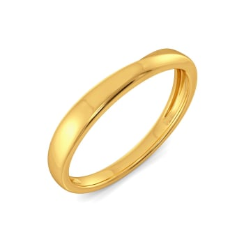 Droopy Loopy Gold Rings