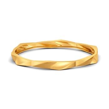 Fit Shaped Gold Bangles