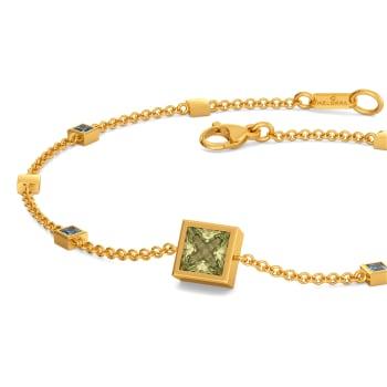 Colour Blocked Gemstone Bracelets