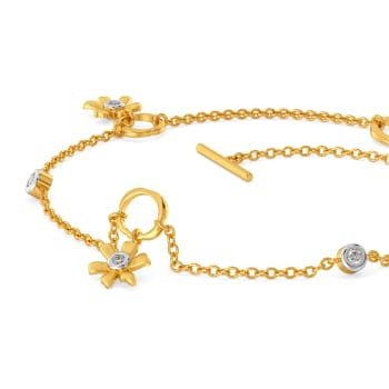 Golden Daffodil Diamond Bracelets
