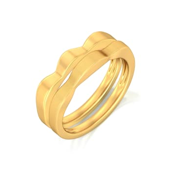 Golden Daffodil Gold Rings