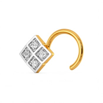 Gingham Guide Diamond Nose Pins