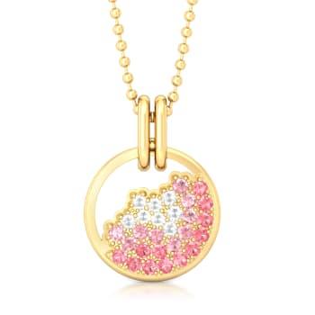 Pink Champagne Gemstone Pendants