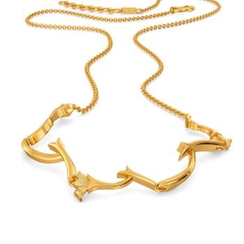 Spirals N Vines Gold Necklaces
