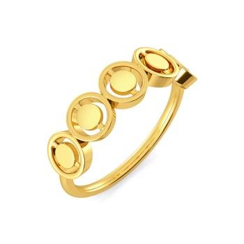 Sequin Sequel Gold Rings