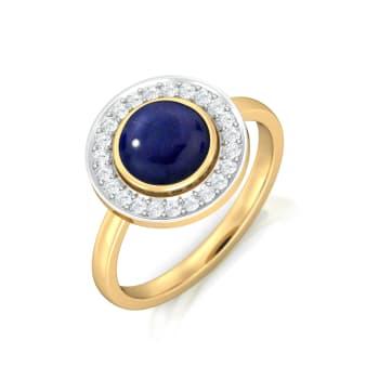 Fiery Blue Diamond Rings