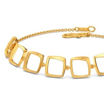 Square Flair Gold Bracelets
