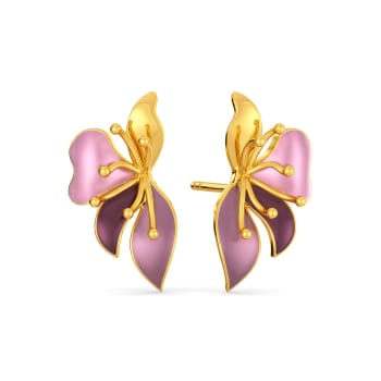 Boutonniere Gold Earrings