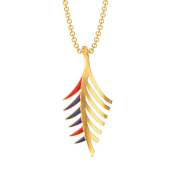 Plume Palette Gold Pendants