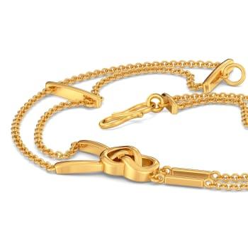 Fringe Braids Gold Bracelets