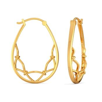 Nets Gone Hip Gold Earrings