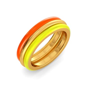 The Neon Show Gold Rings