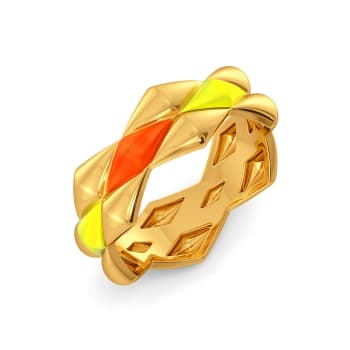 Neon Dab Gold Rings