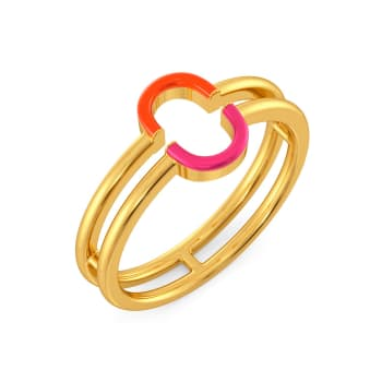 Tangerine Blush Gold Rings
