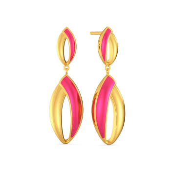 The Punchy Pink Gold Earrings