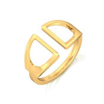 Fringe Frolic Gold Rings