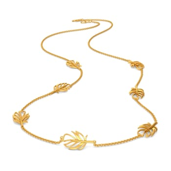 Flirty Feathers Gold Necklaces