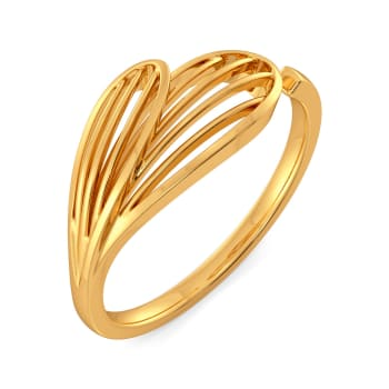 Joli Petale Gold Rings