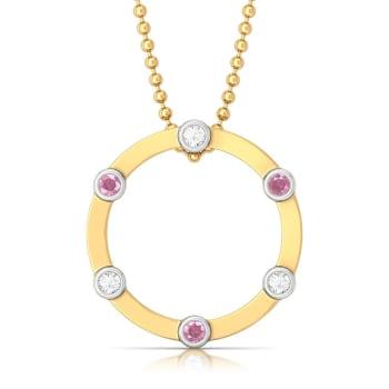 Ring of shimmer Diamond Pendants