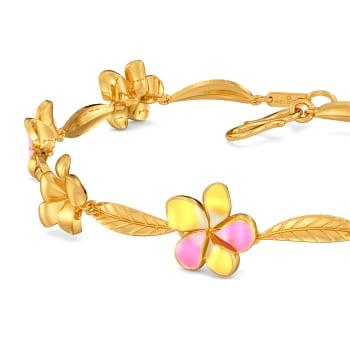Frangipani Gold Bracelets
