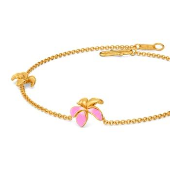 Petals & Ferns Gold Bracelets