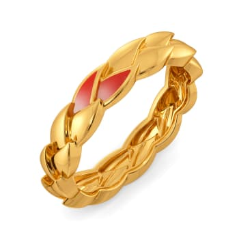 Birds of Paradise Gold Rings