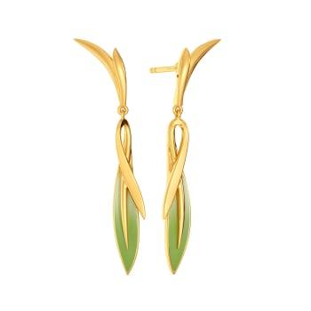 Tropical Cool Gold Earrings