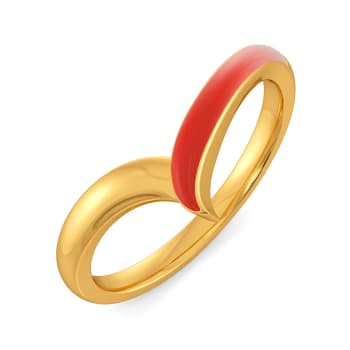 Tropical Themed Gold Rings