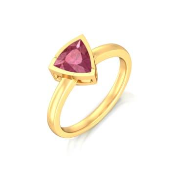 Fuchsia Rose Gemstone Rings