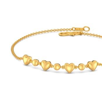 Disco Hearts Gold Bracelets