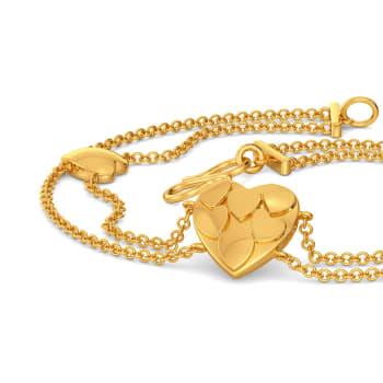 Club of Hearts Gold Bracelets