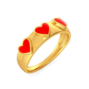 Circle of Hearts Gold Rings
