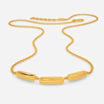 Subtly Suave Gold Necklaces