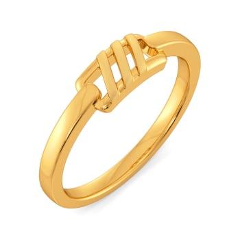 Parisian Panache Gold Rings