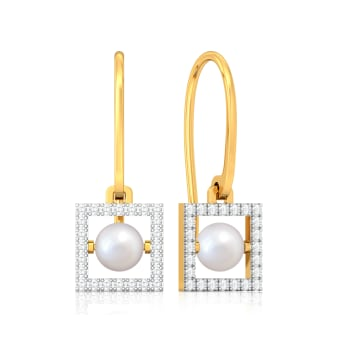 To be Square Diamond Earrings