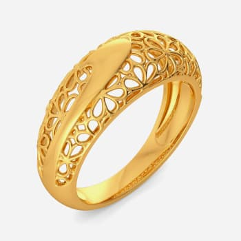 Twirl A Lace Gold Rings