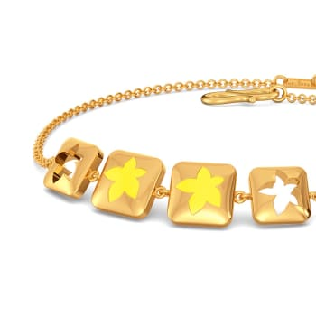 Yellow Verbena Gold Bracelets