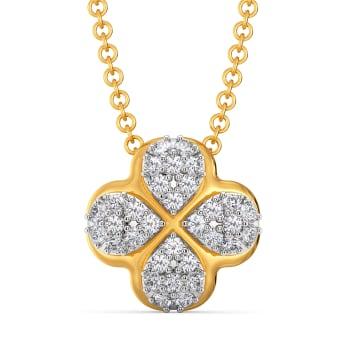Flower Flair Diamond Pendants
