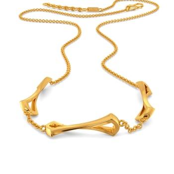 Eccentric Edge Gold Necklaces