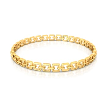 Chained Melody  Gold Bangles