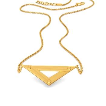 Trek Check Gold Necklaces