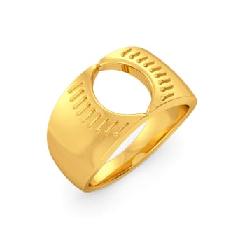 The Bar Lace Gold Rings