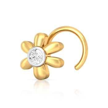 Floral Flair Diamond Nose Pins