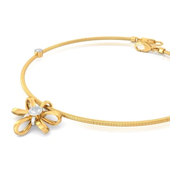 Blossom Ribbon Diamond Bracelets