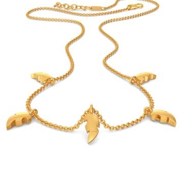 Happy Go Paisley Gold Necklaces
