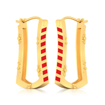 Opposites attract  Gold Earrings