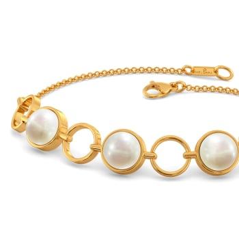 Pearl A Loop Gemstone Bracelets