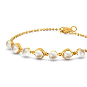 Circle of Pearls Gemstone Bracelets